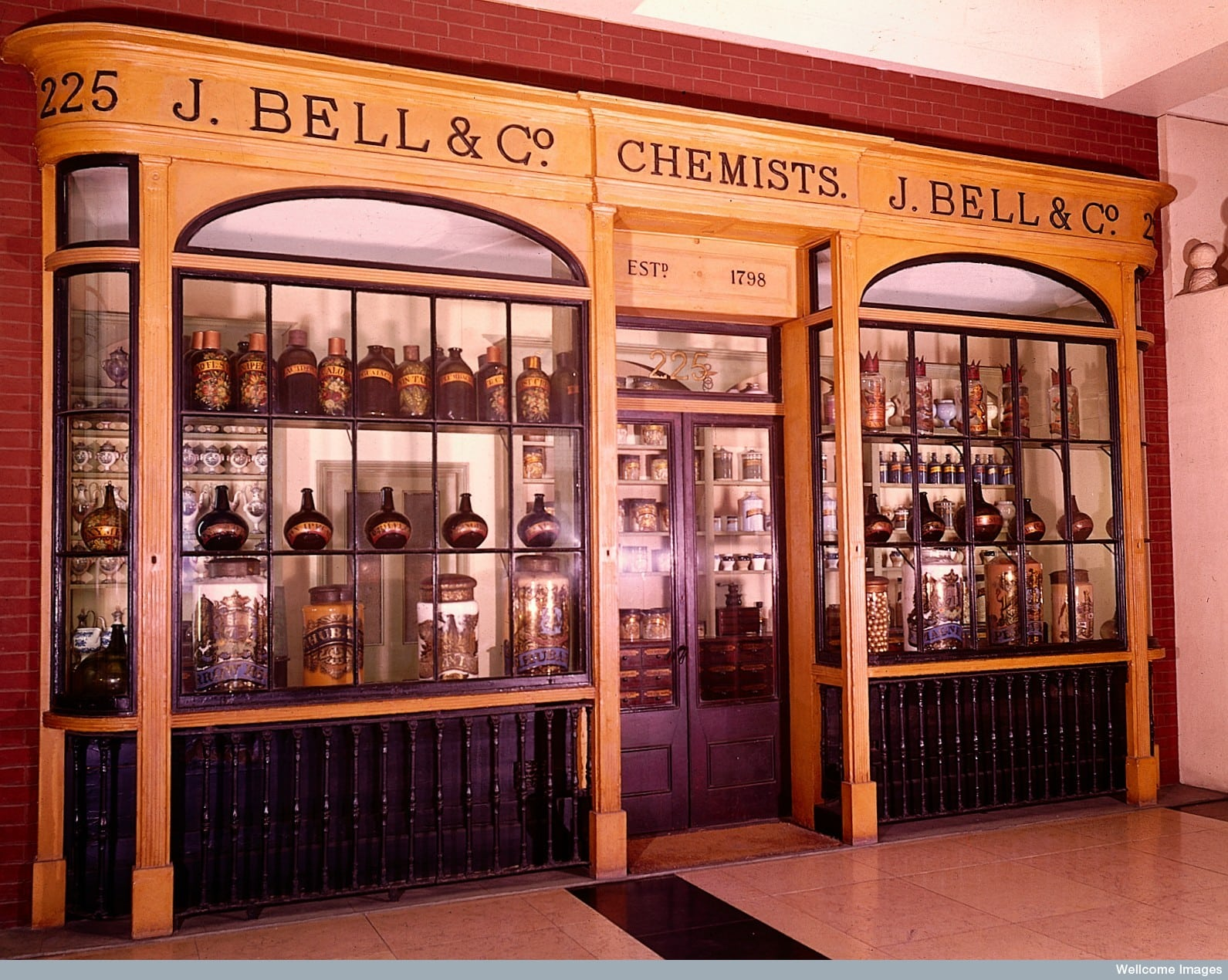 Reconstruction of J. Bell & Co pharmacy in the Wellcome Building, London.
